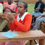 The Water Project: Kakamega Muslim Primary School -  A Student Imitates The Handwashing Steps