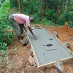 The Water Project: Munenga Community, Francis Were Spring -  Sanitation Platform Construction