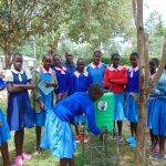 The Water Project: Banja Primary School -  Student Faith Demonstrates Handwashing