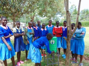 The Water Project:  Student Faith Demonstrates Handwashing