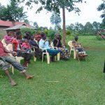 The Water Project: Munenga Community, Francis Were Spring -  Facilitator Joan Were Leads Training