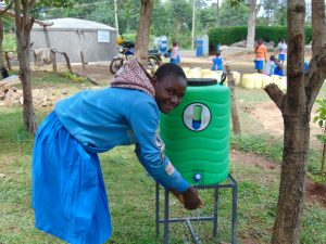 The Water Project:  Student Videlis Washes Her Hands