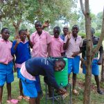 The Water Project: Banja Primary School -  Students At A Handwashing Station