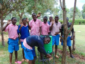 The Water Project:  Students At A Handwashing Station