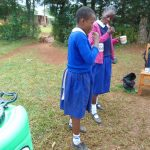The Water Project: Demesi Primary School -  Students Violet And Nilah Demonstrating Dental Hygiene