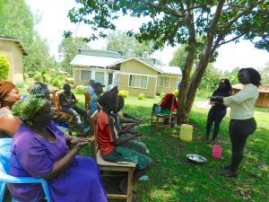 The Water Project:  Trainer Laura Alulu Leads Handwashing Session