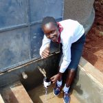 The Water Project: Ebulonga Mixed Secondary School -  Thumbs Up For Clean Water From The Rain Tank