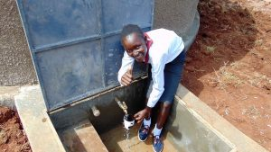 The Water Project:  Thumbs Up For Clean Water From The Rain Tank
