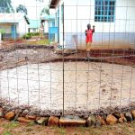 The Water Project: Ebulonga Mixed Secondary School -  Wire In Place Over Foundation