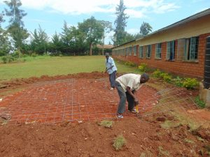 The Water Project:  Rain Tank Foundation Work