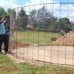 The Water Project: Kakamega Muslim Primary School -  Tying The Wire Frame