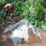 The Water Project: Masuveni Community, Masuveni Spring -  Mixing Cement