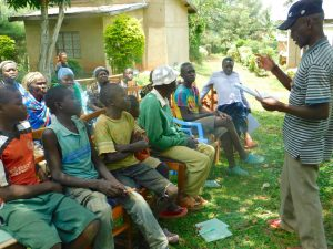 The Water Project:  Community Member Shares A Response During Training