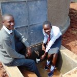 The Water Project: Ebulonga Mixed Secondary School -  Happy Students At The Tank