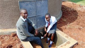 The Water Project:  Happy Students At The Tank
