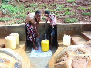 The Water Project:  Clean Water Flowing At Francis Were Spring
