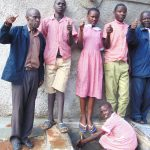 The Water Project: Kakamega Muslim Primary School -  Students And Staff Give Thumbs Up For Clean Water