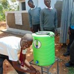 The Water Project: Ebulonga Mixed Secondary School -  Using A Handwashing Station