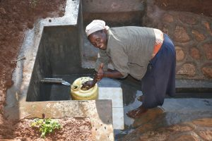 The Water Project:  Happy And Very Satisfied For Finally Getting Clean And Safe Water
