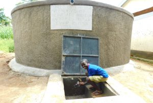 The Water Project:  Enjoying Rain Tank Water