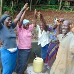 The Water Project: Masuveni Community, Masuveni Spring -  Celebrating The Spring