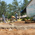 The Water Project: Shichinji Primary School -  Pouring Foundation Concrete