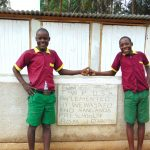 The Water Project: Nanganda Primary School -  Boys Pose With Their New Latrines
