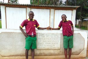 The Water Project:  Boys Pose With Their New Latrines