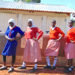 The Water Project: Kakamega Muslim Primary School -  Girls Stand Proud With Their New Latrines