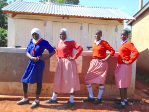The Water Project:  Girls Stand Proud With Their New Latrines