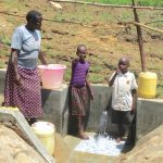 The Water Project: Sambaka Community, Sambaka Spring -  Thumbs Up For Clean Water
