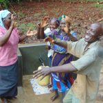 The Water Project: Masuveni Community, Masuveni Spring -  Singing An Dancing To Celebrate The Spring