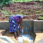 The Water Project: Munenga Community, Francis Were Spring -  Clean Water Flowing
