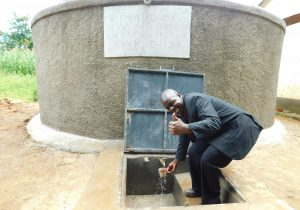 The Water Project:  School Administrator Celebrates The Tank