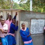 The Water Project: Banja Primary School -  Boys At Their New Latrines