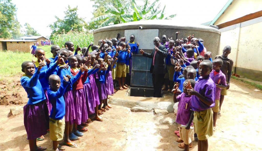 The Water Project : 43-kenya19067-thumbs-up-for-clean-water