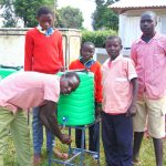 The Water Project: Kakamega Muslim Primary School -  Boys At A Handwashing Station