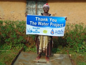 The Water Project:  Proud New Sanitation Platform Owner Says Thank You