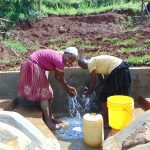 The Water Project: Munenga Community, Francis Were Spring -  Enjoying The Spring Water