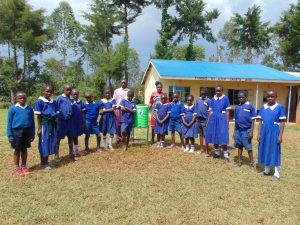 The Water Project:  Standing With A New Handwashing Station