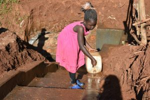 The Water Project:  Responsible Chairpersons Daughter Already Taking Good Care Of Gideon Spring
