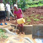 The Water Project: Munenga Community, Francis Were Spring -  Cleaning The Spring Stairs