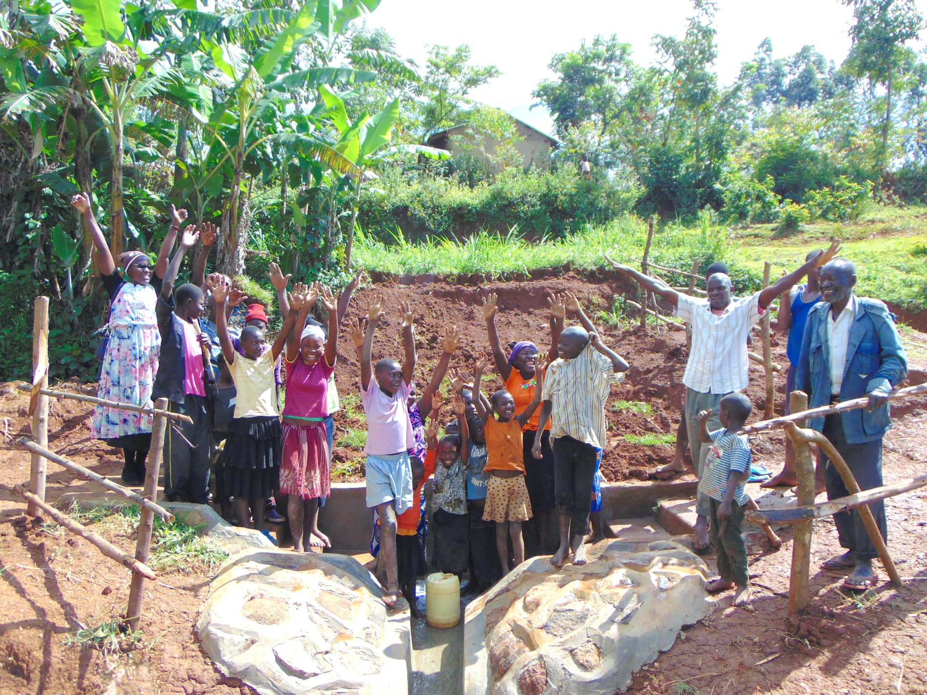 The Water Project : 49-kenya19153-community-celebrates-the-spring