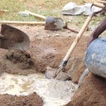 The Water Project: Ebulonga Mixed Secondary School -  Mixing Sand And Cement