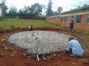 The Water Project:  Rain Tank Foundation Takes Shape