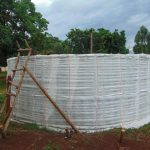 The Water Project: Kakamega Muslim Primary School -  Outside Of Tank Before Outer Cement Layer