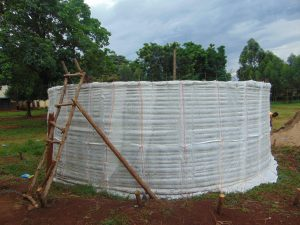 The Water Project:  Outside Of Tank Before Outer Cement Layer