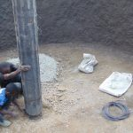 The Water Project: Kakamega Muslim Primary School -  Setting The Main Support Pillar Form