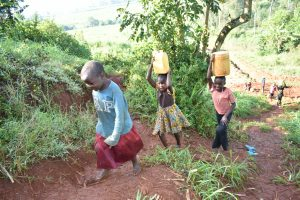 The Water Project:  Children Walking Home With Water