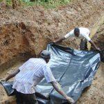 The Water Project: Bumira Community, Madegwa Spring -  Foundation Laying